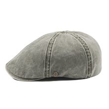 62b7cbe68b6 VOBOOM Green Washed Cotton Newsboy Cap Men Season Ivy Flat Caps 6 Panel  Cabbie Driver Hat