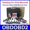 Novo Multidiag Pro Professional Ferramenta de Diagnóstico TCS CDP Pro + Com Cabos Carro Cheio 4 GB Cartão De Memória E Bluetooth Caixa de plástico