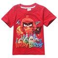 Knowha Verano Aves Enojado Niños camisetas verano de Las Muchachas de Dibujos Animados top Kids Camisetas de Manga Corta de Algodón Ropa de Bebé Unisex camisetas