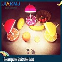 [fruit table lamp] creative cartoon fruit children bedroom charge LED lamp feeding milk lamp