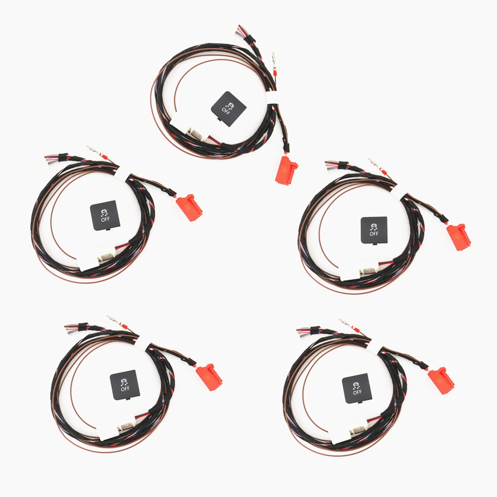 READXT 5 Set Traction Control ESP OFF ASR Switch Button With Cable Harness Plug Car Accessories
