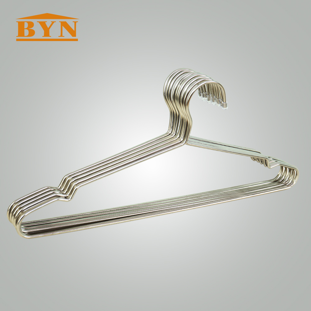 10 Pack Stainless Steel Strong Metal Wire Hangers Clothes Hangers ...