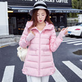 Winter New down cotton-padded jacket female medium-long with a hood cloak a wadded jacket loose thickening cotton-padded coat