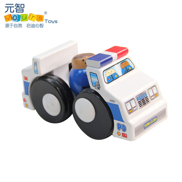 Yours hc0418 child eco-friendly paint toy car toy police car wooden