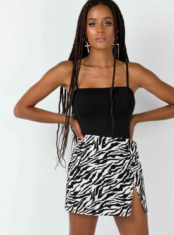 ผู้หญิง MINI กระโปรงเอวสูงเสือดาวพิมพ์ ZEBRA พิมพ์ PARTY Clubwear สบายๆแขนสั้นค็อกเทลเสื้อผ้า Elegant ตรงนุ่มกระโปรง