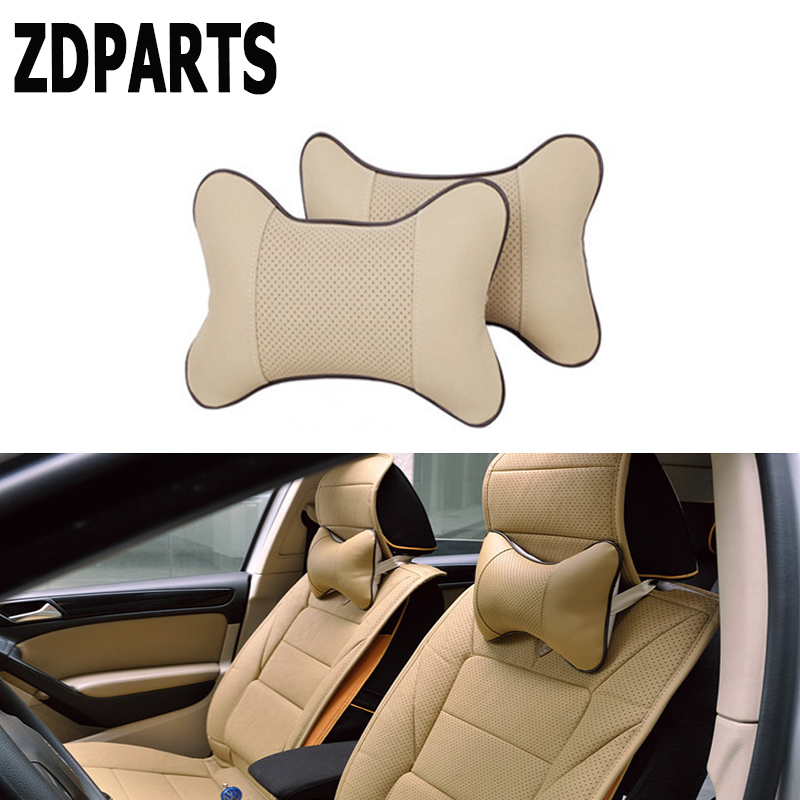 ZDPARTS Car Seat Neck HeadRest Pillow Covers For bmw e60 e90 e36 ford mondeo kuga toyota avensis rav4 c-hr <font><b>mercedes</b></font> w204 <font><b>211</b></font> AMG image