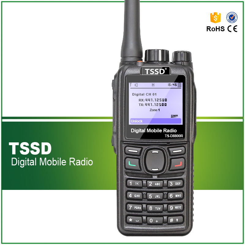 New Arrival Best Price 5W UHF 400-480MHZ Commercial DMR Digital Walkie Talkie TS-8800R