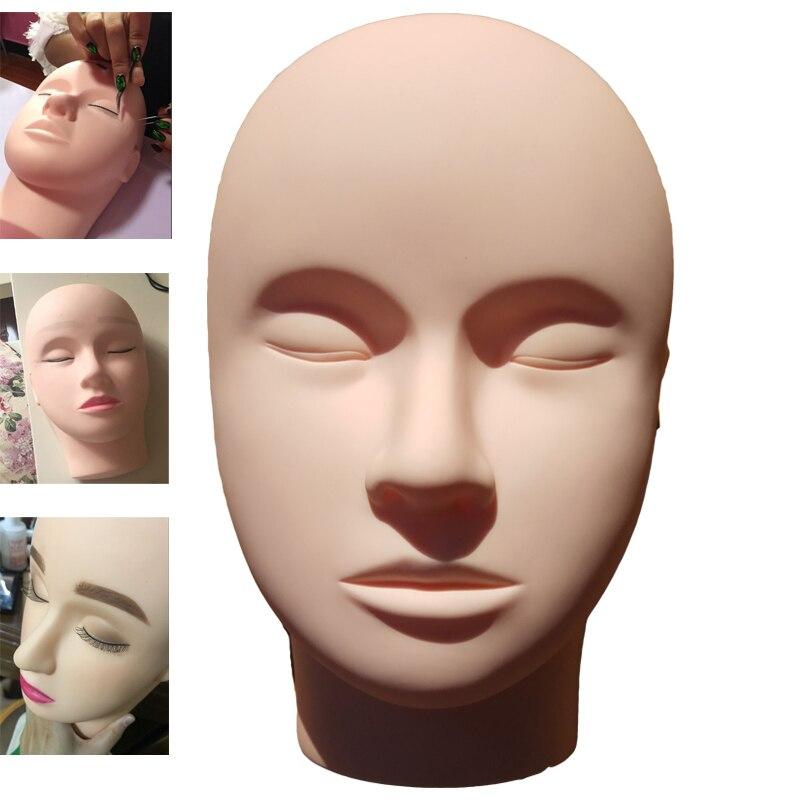 Closed Eyes Training Makeup Mannequin Head Massage ...