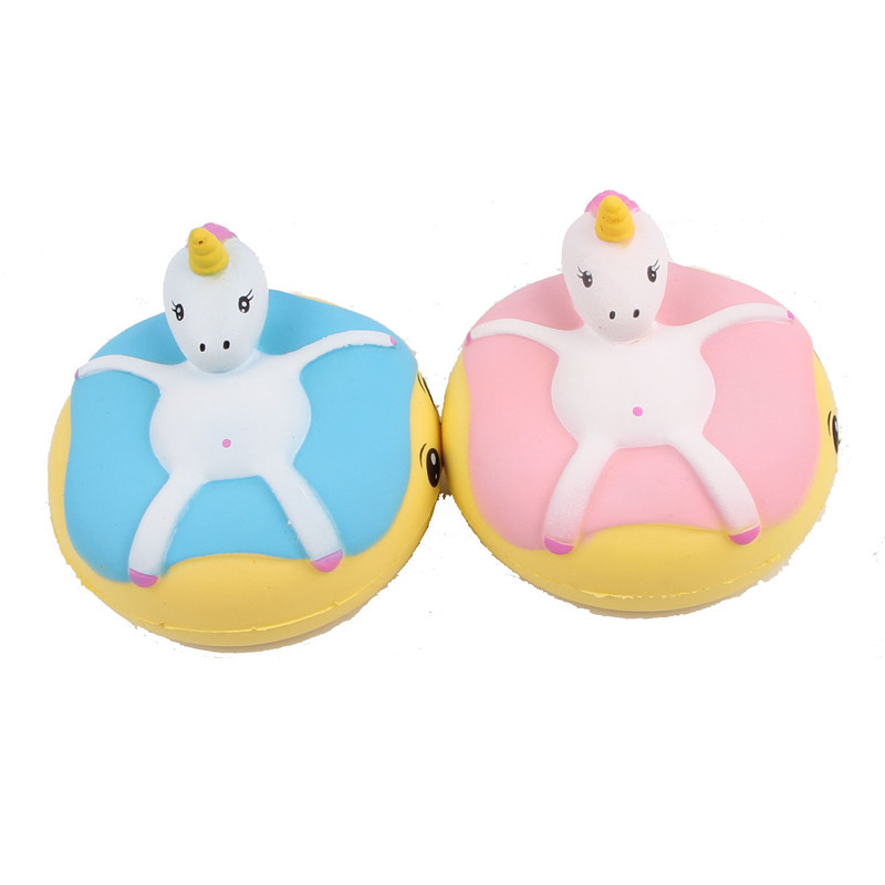 Diligent 1pc Soft Rebound Flexible Pu Plastic Squishy Unicorn Donut Toy Children Kids Baby Bebe Play Safe Lovely Kitchen Decoration Cool In Summer And Warm In Winter