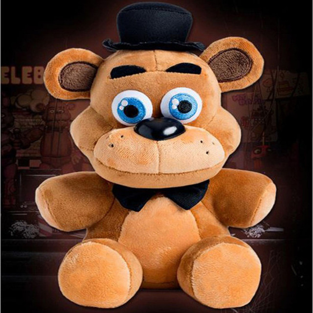 25CM FIVE NIGHTS AT FREDDY'S PLUSH TOY FREDDY TEDDY BEAR PLUSH TOY GAME  PLAYERS GIFT BOYFRIEDN