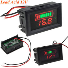 5pcs Dual LED Display Indicator 12V Lead-acid Battery Capacity Tester Voltmeter with Reverse Protection Free Shipping 10000863(China)