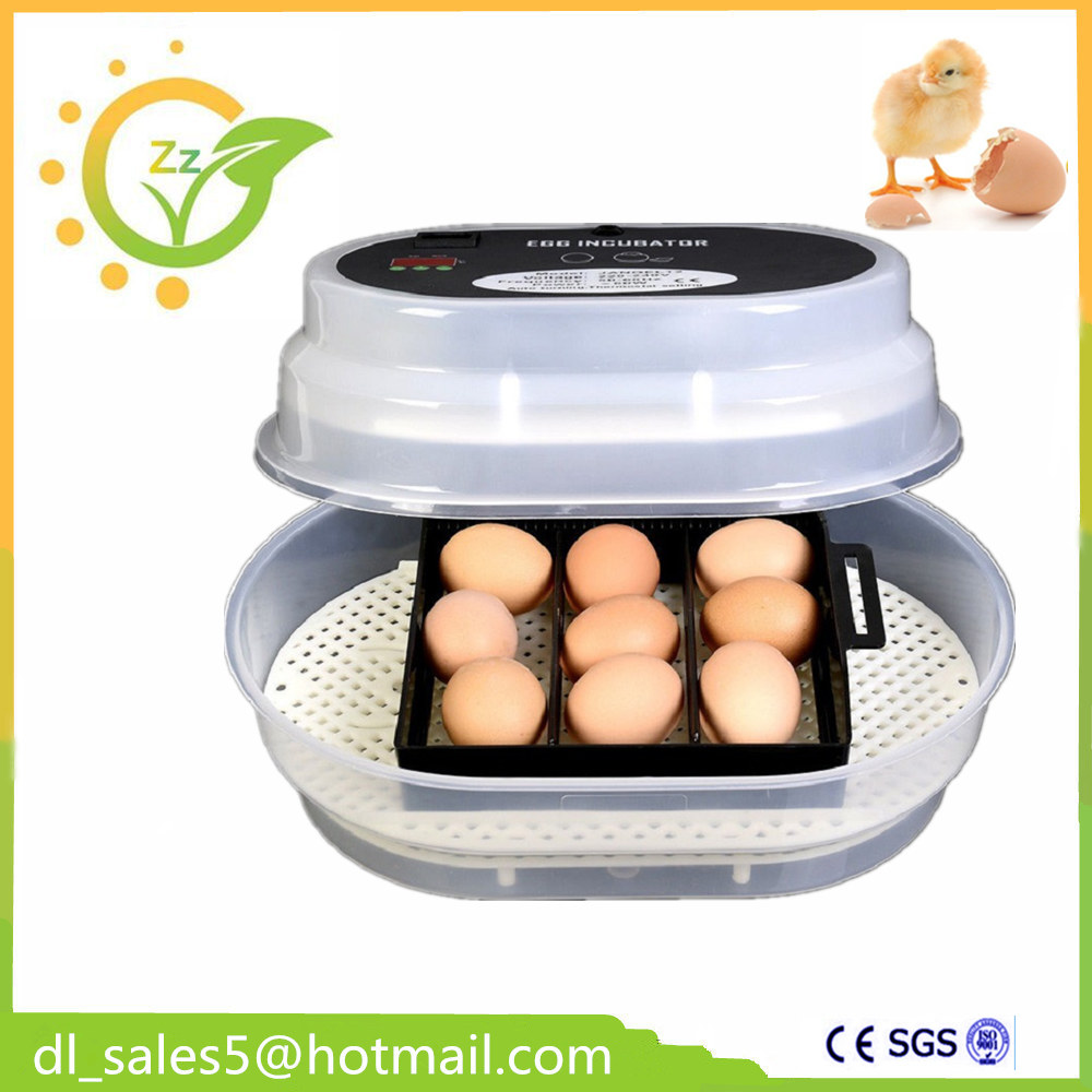 China Cheap Small Brooder CE 12 Eggs Auto Incubator Temperature Controller Mini Poultry Hatchery Machine for Chicken Duck Birds china newest brooder automatic 48 eggs incubator hatchery auto hatchers machine indicator light