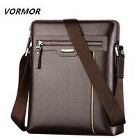 VORMOR Famous Brand Leather Men Bag Casual Business Leather Mens Messenger Bag Fashion Men S Crossbody