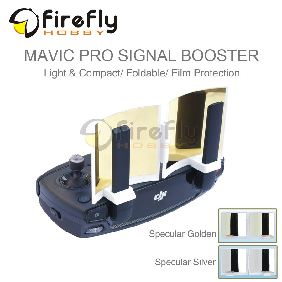 ФОТО remote controller signal booster foldable antenna specular surface with film protection range extender for dji mavic pro