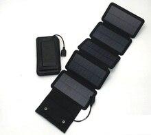 New 7 5W Solar power bank 5V 1 5A mobile powerbank universal portable Mono Silicon solar