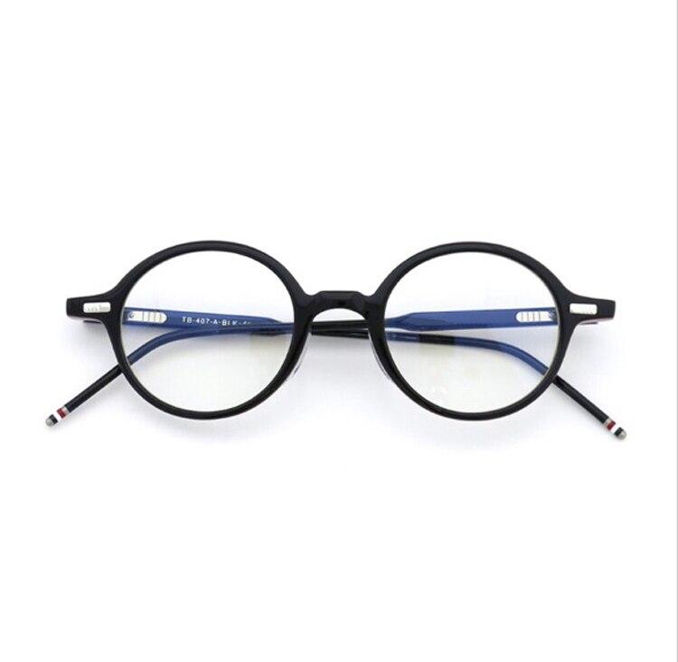 Vintage Round designer Browne tb407 acetate Eyeglasses for Men and Women Optical Reading Eyeglasses Frame wih