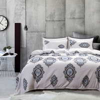 HM Life Duvet Cover Set Queen Size Imitate Printed With Elastic Brand 100% Polyester Bedding Set Without Bed Sheets Bedding Room