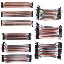 40 шт. кабели M-F/M-M/F-F Перемычка провод для макетной платы красочные GPIO ленты для DIY Kit