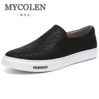 MYCOLEN 2018 New Fashion Canvas Shoes Men High Quality Breathable Shoes Luxury Brand Top Fashion Male