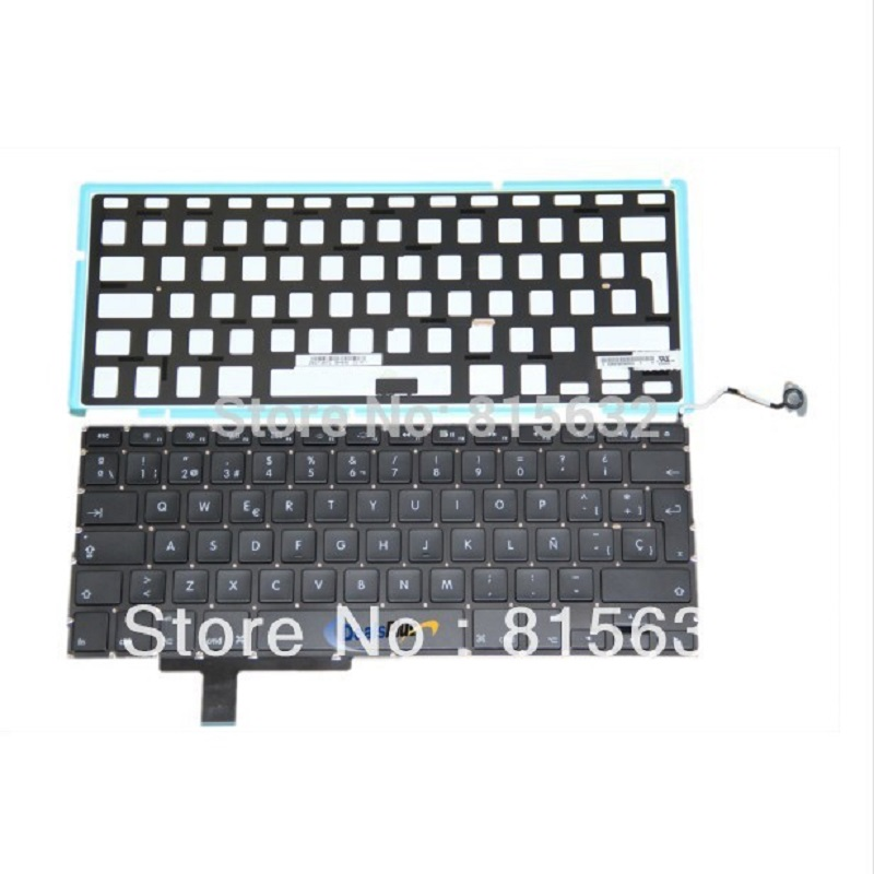 New FOR Apple 17 MacBook Pro Unibody A1297 Teclado Spanish SP Keyboard W/Backlight цена