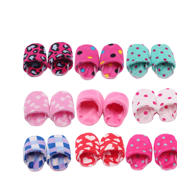 18 inch Girls doll shoes Winter woolen slippers Casual shoe American newborn accessories Baby toys fit 43 cm baby dolls s129 недорого