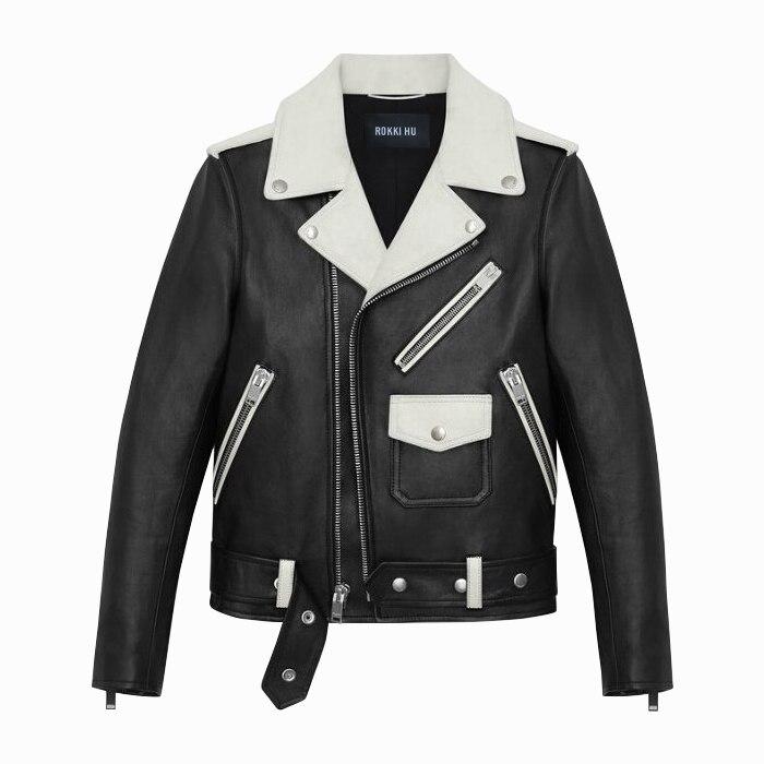 2016 Standard Solid Real Offer Erkek Deri Ceket Men Leather Jacket Fashion Custom Clothing And Color Old Gun Motorcycle Jackets