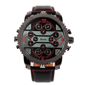 4 Time Zone Leather Band Casual Japan Quartz Movement Wrist Watch Luxury Timepiece 4