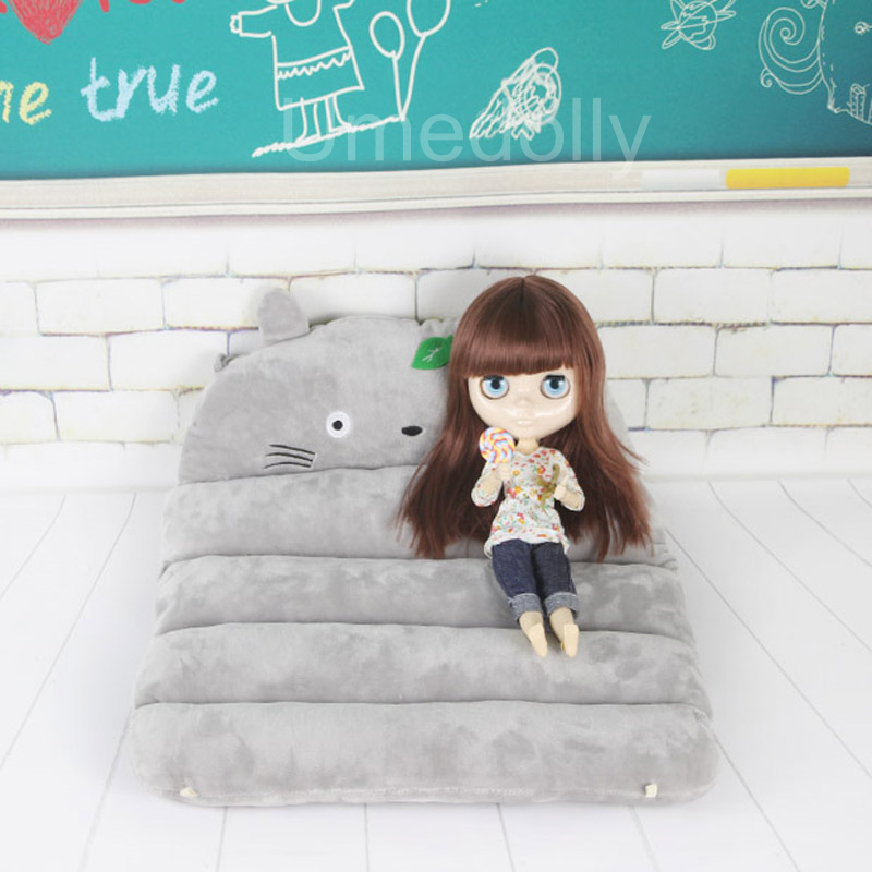 1 PCS Miniature Dollhouse Bed For Blyth, 1/6 BJD, Licca, Barbies, Azone, Pullip Doll Furniture Bedroom Accessories