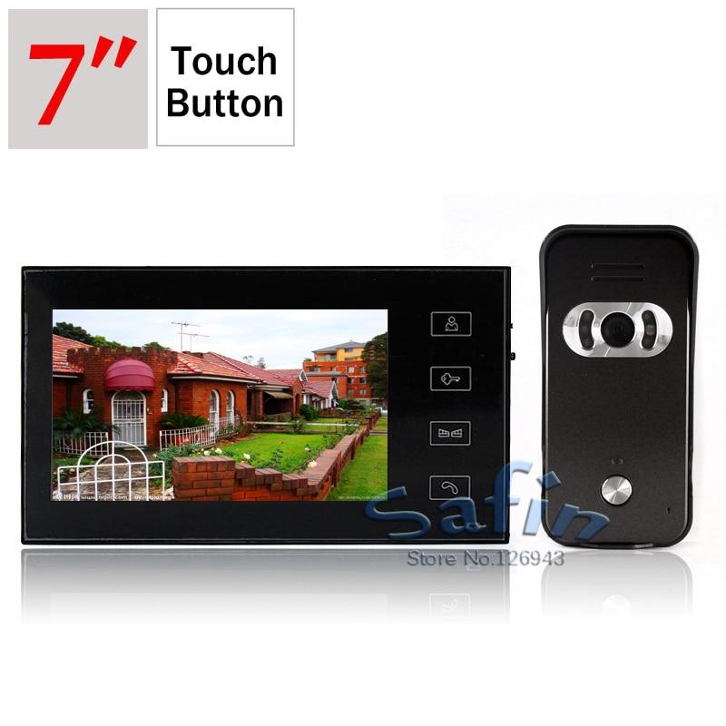 7inch Super Slim Monitor Doorphone Intercom HD 700tvl Outdoor Unit Camera Two Way Talk Doorbell System