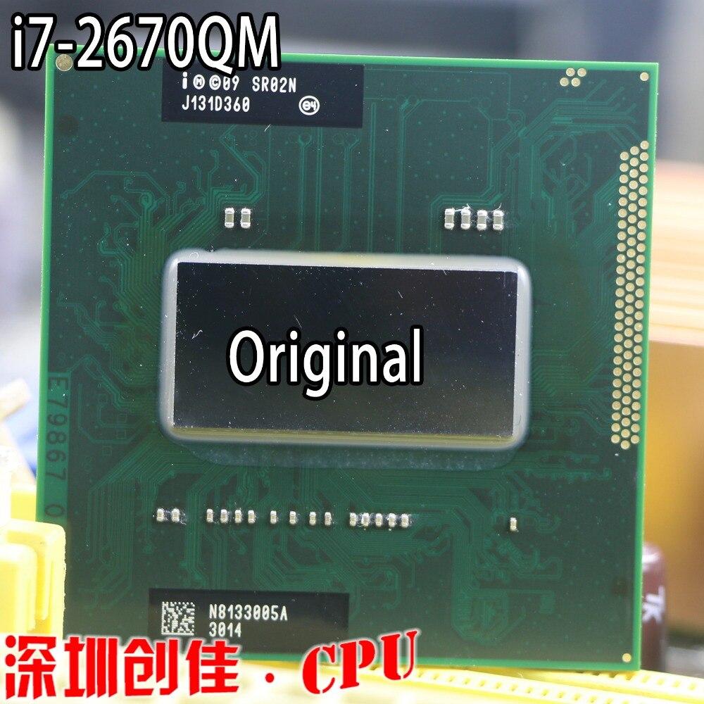 Intel Original Процессор I7-2670QM SR02N I7 2670QM SRO2N 2,2 г-3,1 г/6 м для HM65/HM67 ноутбук Процессор