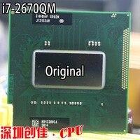 Original intel CPU I7 2670QM SR02N I7 2670QM SRO2N 2.2G 3.1G/6M For HM65/HM67 Laptop Processor