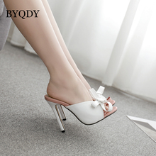 BYQDY New Sexy High Heels Butterfly-knot Sandals Women Summer Open Toe Shoes Woman Pumps Pink Love Girls Plus Size