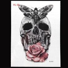 20x12cm tattoo stickers waterproof  Painted Body Art Tattoo Disposable Temporary Tattoos 3D stereoscopic flower arm tattoo