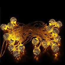 New Moroccan 3.5M 20 LED Lamp Beads Filigree Christmas Tree Xmas Wedding Party Patio Decor Light String Warm White lamp #15