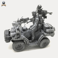 DIY 1/35 SEAL Personnel and Terrain Vehicle Resin Model DXC 04