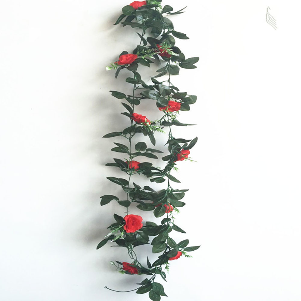 2.4m/7.8ft Artificial Silk Rose Flower Wisteria Vine Rattan Hanging Flower Garland for Wedding Party Home Garden Decoration 1