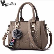 Вышивка Курьерские сумки Для женщин кожа Сумки сумки для Для женщин сумка через плечо женская сумка большая BOLSOS с меховыми помпонами для ручная сумка