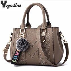 С вышивкой, сумка-почтальонка из кожи, сумки для ношения в руке для женщин сумки для женщин 2019 сумка через плечо женская сумка большая BOLSOS с м...