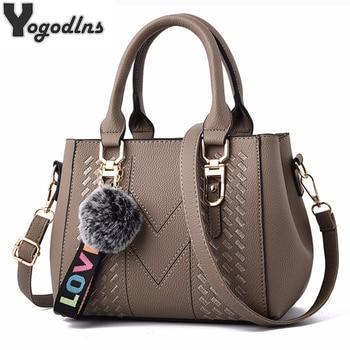 Embroidery Messenger Bags Women Leather Handbags Bags for Women 2020 Sac a Main Ladies hair ball Hand Bag Uncategorized Fashion & Designs Ladies Bags Luggage & Bags Women's Fashion