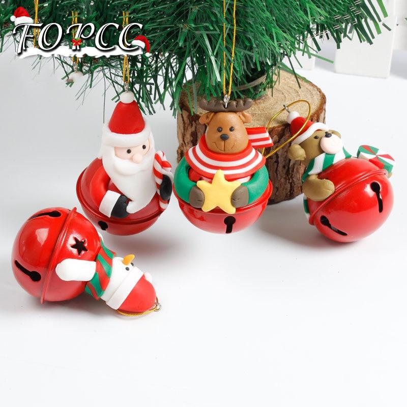 Cool Snowman Decoration Ornaments For Christmas Tree: Kawaii Santa Snowman Elk Doll Bell Christmas Tree