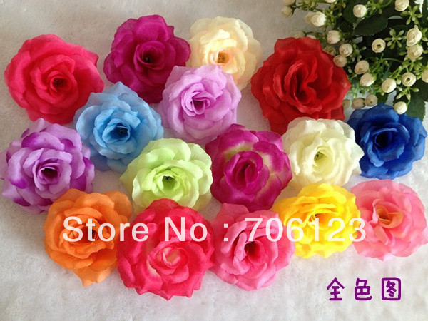 Silk Simulation Artificial Fake Flowers multi-color Head Rose decoration DIY housing flower for Party Wedding bouquet 150PCS