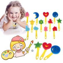 12pcslot diy children painting sponge brush tools kids early educational drawing toy art supplies - Children Painting Images