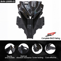 SMOKU Motorcycle Carbon Fiber Head Shell Upper Front Nose Air Intake Ram Full Fairing Kits Covers For BMW S1000RR 2015 2017