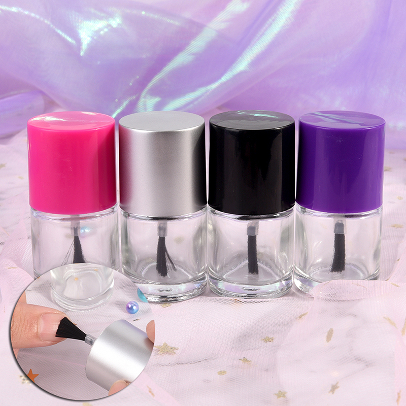 9ML Empty Cosmetic Containers Nail Glass Bottles with Brush Transparent Glass Nail Polish Bottle Empty With A Lid Brush цена