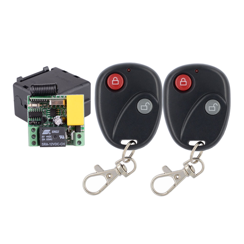 US $7 5 20% OFF|Mini Size AC 220V 1CH 10A RF Wireless Remote Control Switch  System,220V Receiver+ Lock Unlock Transmitter Latched-in Switches from