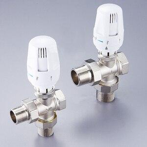 """Image 4 - 1/2 """"3/4"""" 1 """"messing drei Weg Thermostatventil DN15 DN20 DN25 Automatische Temperatur Regelventil Fußbodenheizung heizung"""
