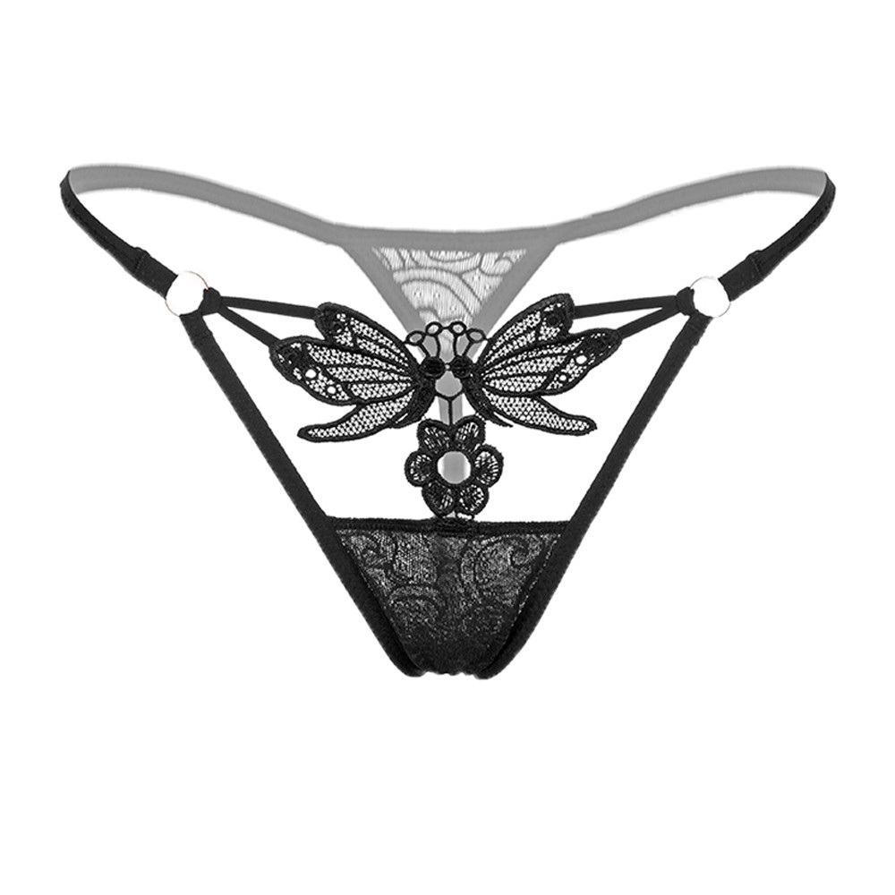 37f64b06a New Style Women s Sexy Lace Low-Waist G-String Hollow Underwear Women  Thongs G String Sexy lady Hollow Panties  5 20 ~ Super Sale May 2019