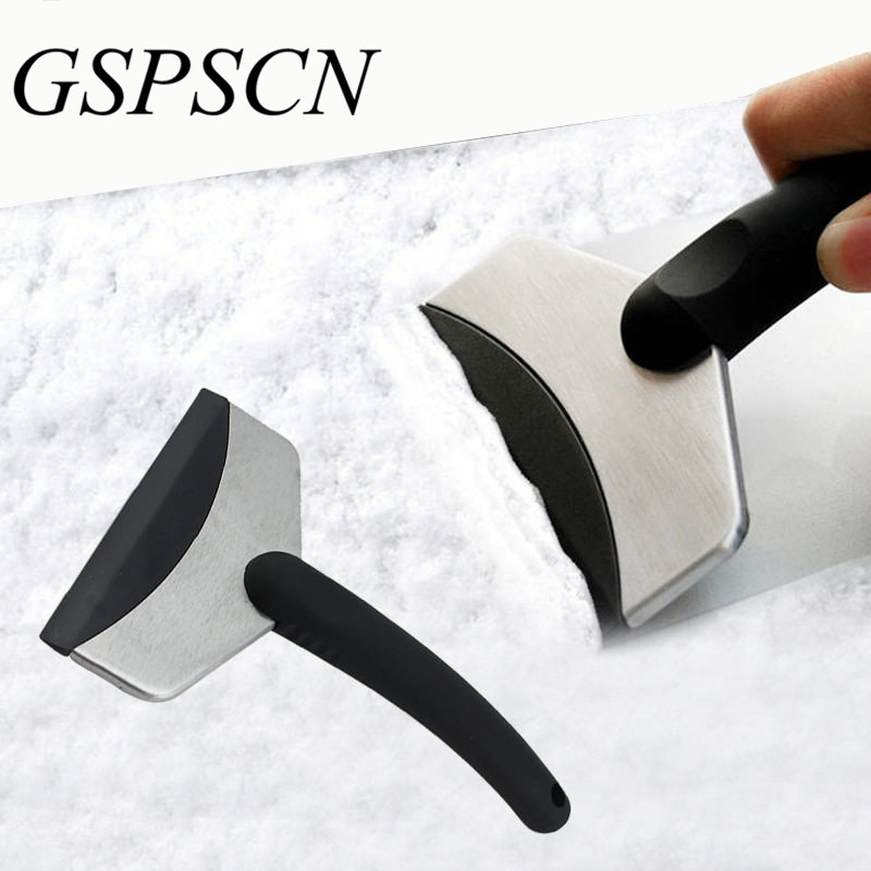 GSPSCN New Winter useful mini car scraper shovel ice scrapers stainless cleaning tools Snow brush Broom Removal for Vehicle цены