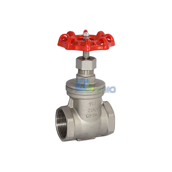 MEGAIRON 1-1/4 DN32 Stainless Steel SS316 Thread Female Gate Valve CF8M Heavy Duty Max 200Psi