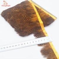 Chengbright al por mayor 10 yardas de oro faisán Plumas recorta ropa del Partido de la falda del vestido de boda decoración artesanía Plumas cinta